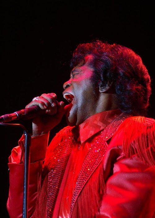 James Brown Greeting Card featuring the photograph James Brown by Bob Guthridge
