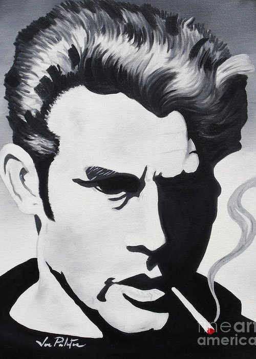 James Dean Greeting Card featuring the painting James Dean by Joseph Palotas