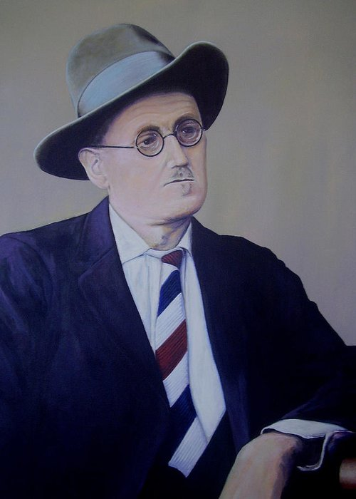 James Joyce Greeting Card featuring the painting James Joyce by Eamon Doyle