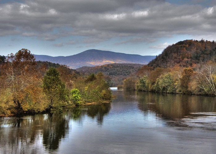 Landscape Greeting Card featuring the photograph James River 1 by Michael Edwards