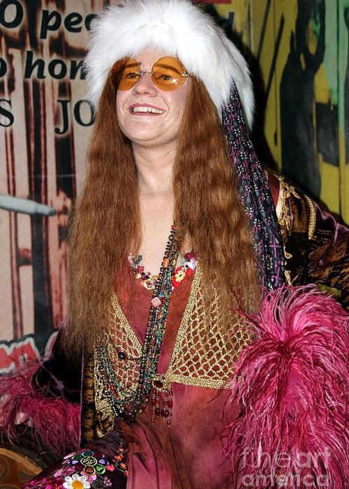 Janis Joplin Greeting Card featuring the photograph Janis Joplin by Sophie Vigneault