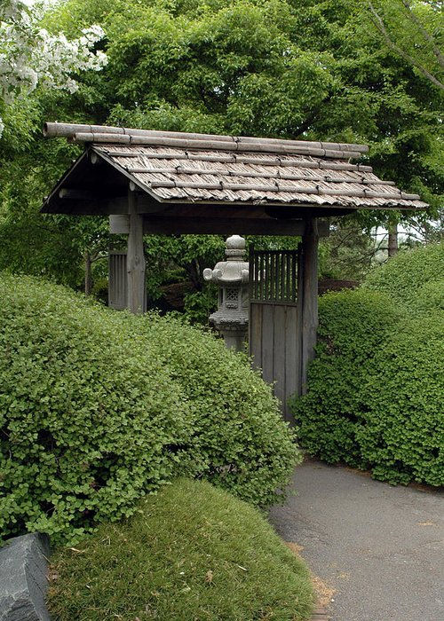 Japanese Garden Greeting Card featuring the photograph Japanese Garden by Kathy Schumann