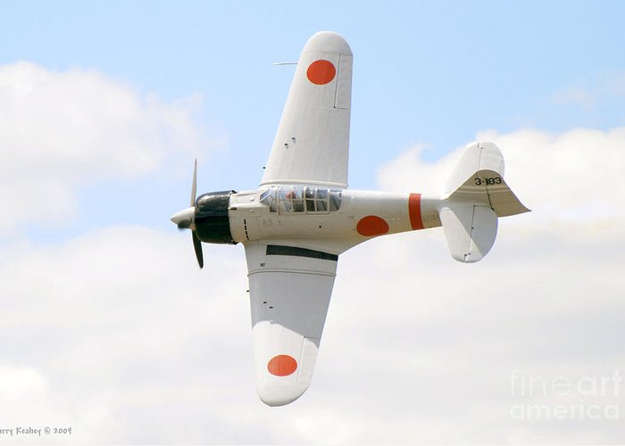 Airplanes Greeting Card featuring the photograph Japanese Zero by Larry Keahey