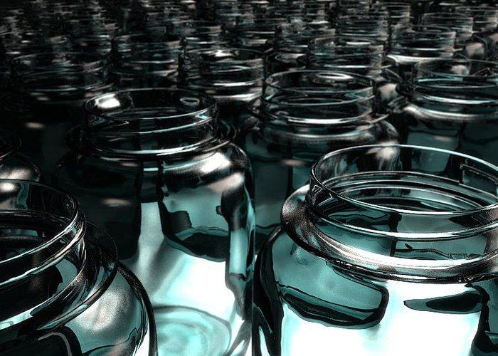 Jars Greeting Card featuring the digital art Jars by Joel Lueck