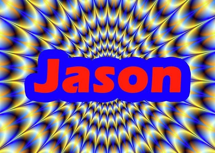 Men Greeting Card featuring the digital art Jason by Mitchell Watrous
