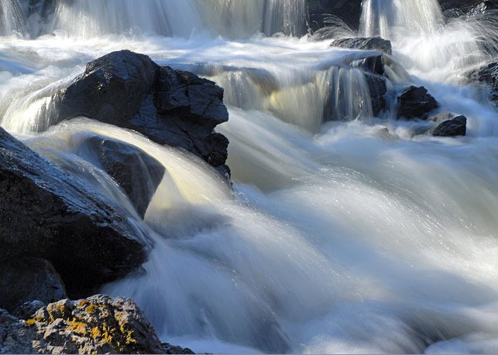 Boundary Waters Canoe Area Wilderness Greeting Card featuring the photograph Jasper Falls Closeup by Larry Ricker