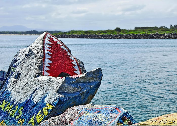 Photography Greeting Card featuring the photograph Jaws - Beach Graffiti by Kaye Menner