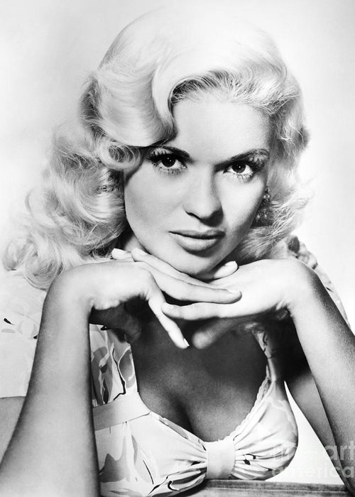 20th Century Greeting Card featuring the photograph Jayne Mansfield (1933-1967) by Granger