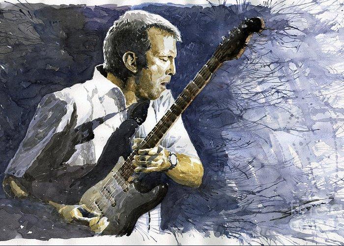 Eric Clapton Guitarist Greeting Cards
