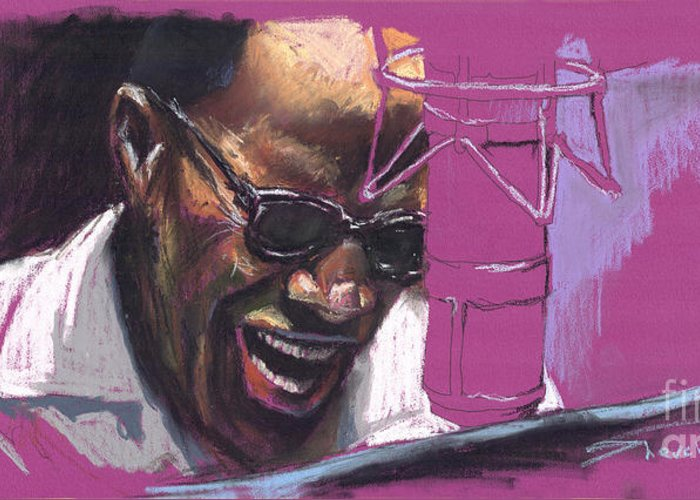 Jazz Greeting Card featuring the painting Jazz Ray by Yuriy Shevchuk