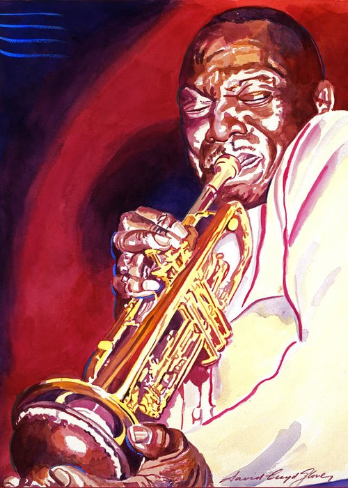 Jazz Greeting Card featuring the painting Jazzman Cootie Williams by David Lloyd Glover