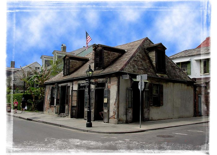 New Orleans Greeting Card featuring the photograph Jean Lafitte The Blacksmith by Linda Kish