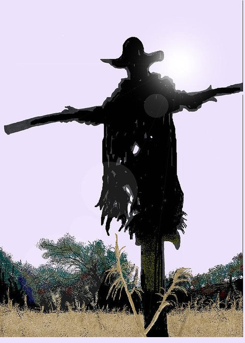 Jeepers Creepers Greeting Card featuring the digital art Jeepers Creepers by Kim Souza