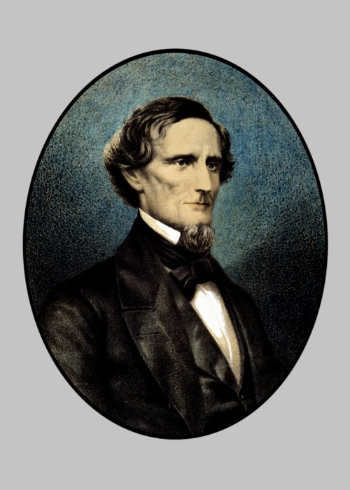 Jefferson Davis Greeting Card featuring the painting Jefferson Davis by War Is Hell Store