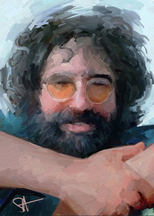 Jerry Greeting Card featuring the digital art Jerry by Scott Waters