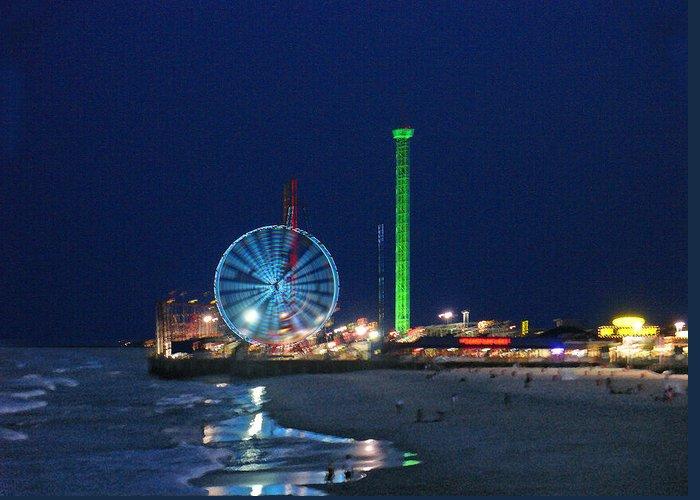 Landscape Greeting Card featuring the digital art Jersey Shore by Steve Karol