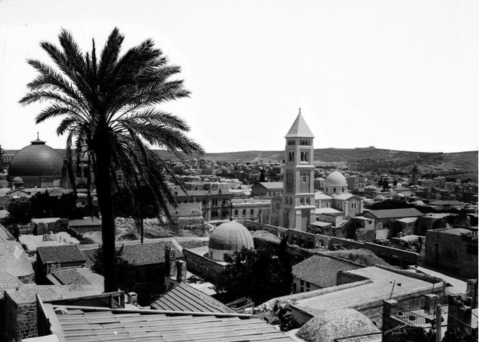 Jerusalem Greeting Card featuring the photograph Jerusalem View From The Southwest by Munir Alawi