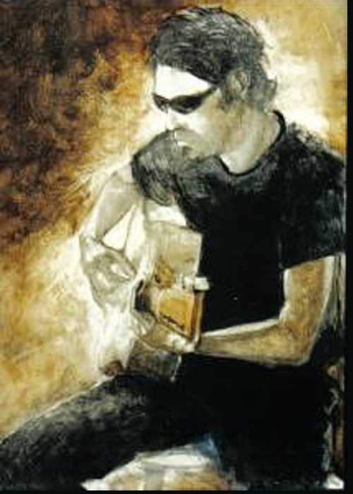 Figure Greeting Card featuring the painting Jesse 2 by John L Campbell