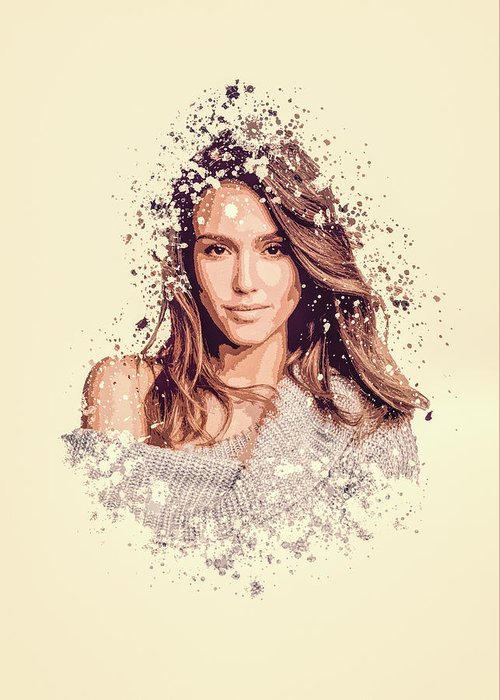 Jessica Alba Greeting Cards