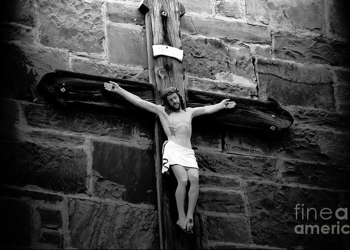 Fine Art Photography Greeting Card featuring the photograph Jesus Christ by David Lee Thompson