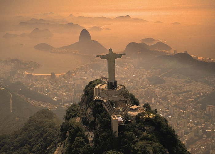 Jesus Greeting Card featuring the photograph Jesus In Rio by Christian Heeb