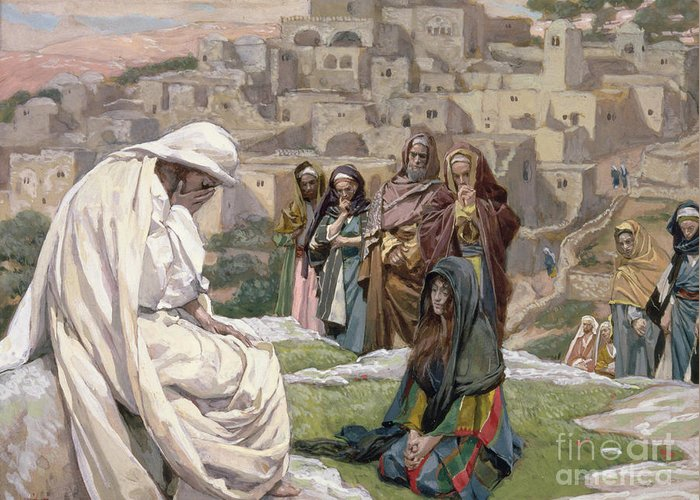 Jesus Greeting Card featuring the painting Jesus Wept by Tissot