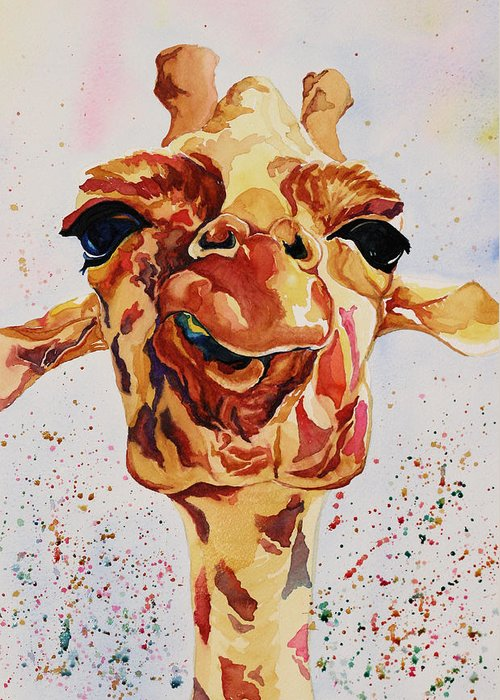 Animal Greeting Card featuring the painting Jewel by Gayle George