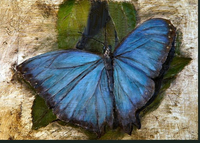 Butterfly Greeting Card featuring the painting Jewel Of The Garden by Merle Blair