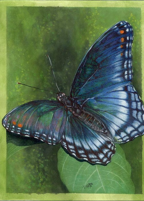 Insects Greeting Card featuring the mixed media Jewel Tones by Barbara Keith