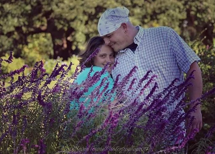 Greeting Card featuring the photograph Jill Purple by Lisa Marie Towne