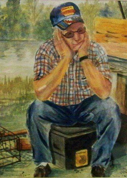 Greeting Card featuring the painting Jimmy by Angela Sullivan
