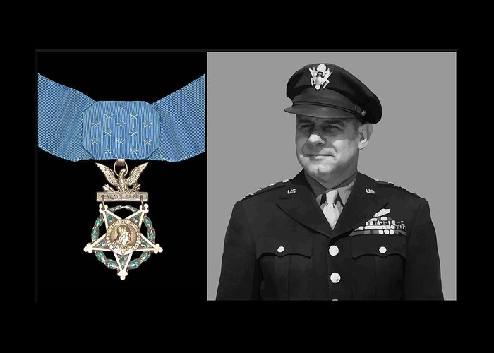 Jimmy Doolittle Greeting Card featuring the painting Jimmy Doolittle And The Medal Of Honor by War Is Hell Store