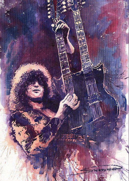 Jimmy Page Greeting Cards