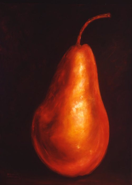 Pear Greeting Card featuring the painting Joanne by Shannon Grissom
