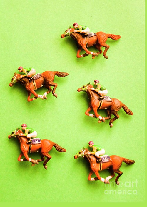 Racehorse Greeting Cards