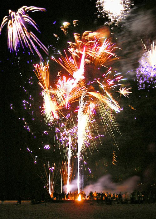 Joe Greeting Card featuring the photograph Joe's Fireworks Party 2 by Charles Harden