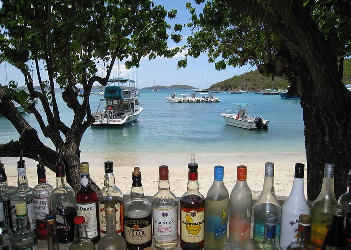 St. John Usvi Greeting Card featuring the photograph Joe's Rumhut by Ginger Howland