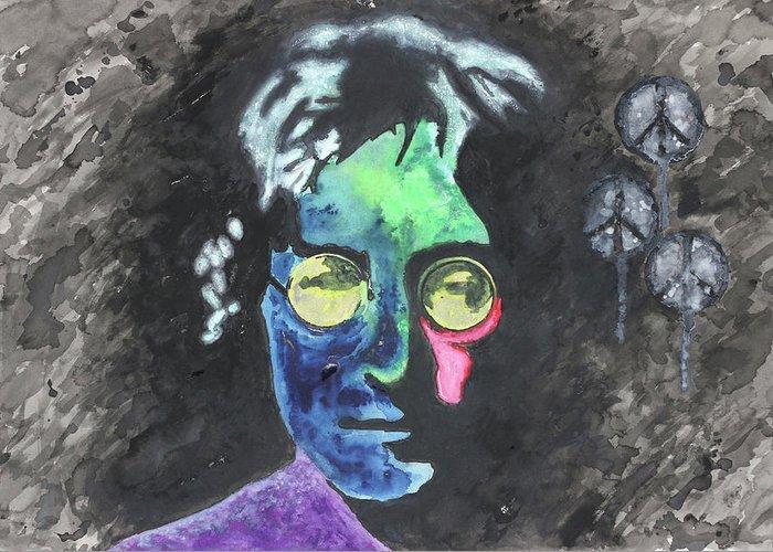 John Lennon Images Greeting Cards