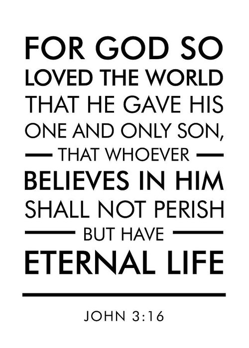 john 3 16 spiritual wall art bible verses art greeting card for