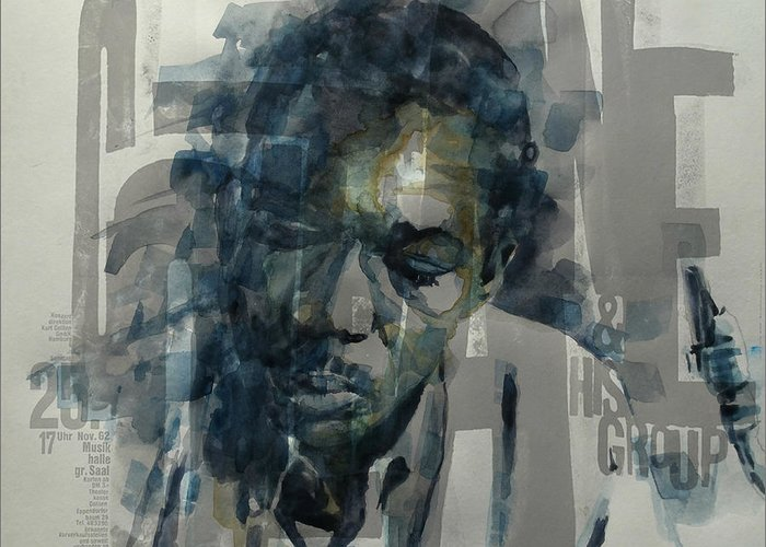 Coltrane Mixed Media Greeting Cards