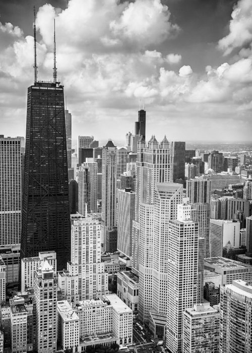 Chicago Black White Greeting Cards