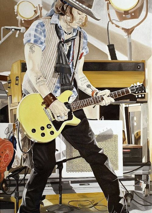 Johnny Depp - Guitar Hero Greeting Card for Sale by Ina Schulz 5c5123137286