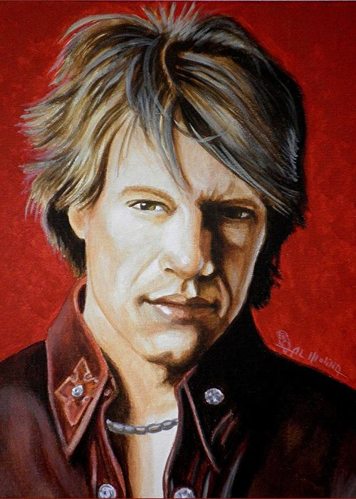 Jon Bon Jovi Greeting Card for Sale by Al Molina – Bon Jovi Birthday Card