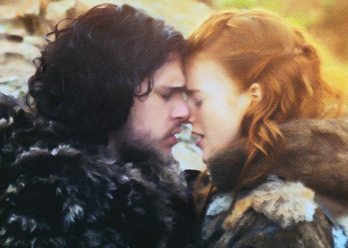 Game of Thrones Love John Snow Ygritte Picture Print  On Framed Canvas Wall Art