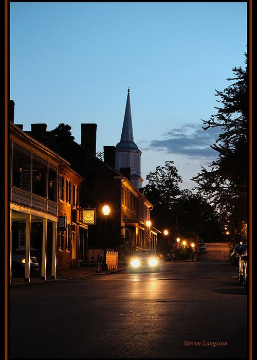 Tennessee Greeting Card featuring the photograph Jonesborough Tennessee 10 by Steven Lebron Langston