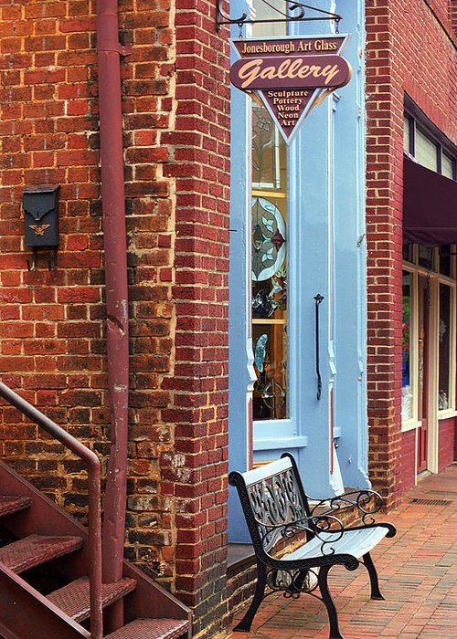 America Greeting Card featuring the photograph Jonesborough Tennessee Main Street by Frank Romeo
