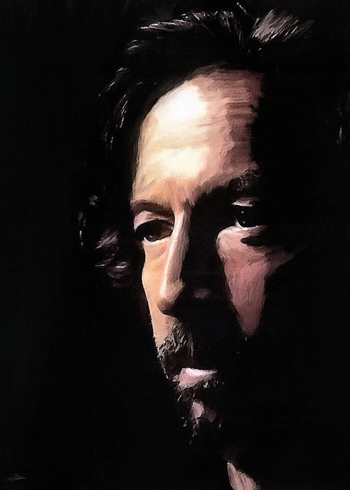 Eric Clapton Greeting Card featuring the digital art Journeyman by Peter Chilelli