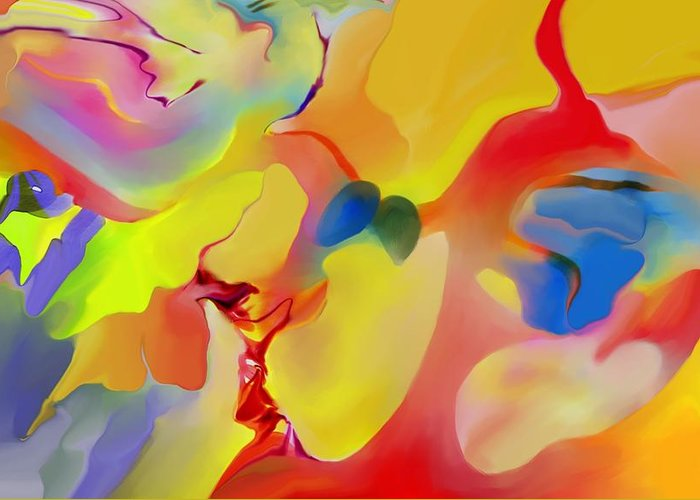 Abstact Greeting Card featuring the digital art Joy And Imagination by Peter Shor
