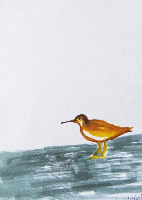 Sandpiper Greeting Card featuring the painting Joy To You by Trilby Cole