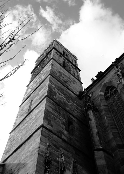 Cathedral Greeting Card featuring the photograph Judgment by Dylan Punke